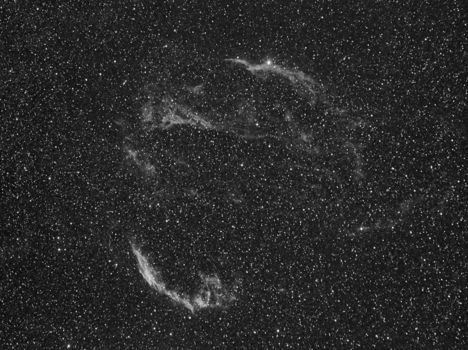 Nébuleuse du voile dans le Cygne à la CCD Voile_ha_2